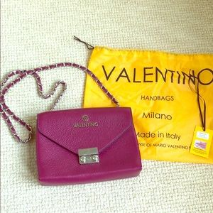 Mario Valentino Isabelle Dol purple leather purse